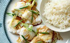 Steamed Monkfish with Wild Garlic