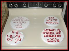 Valentine Stove Burner Covers