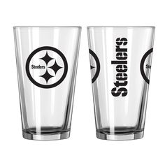 BOELTER BRANDS Pittsburgh Steelers Game Day Pint Glass 2-Pack
