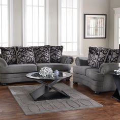 Glass Living Room Furniture Set
