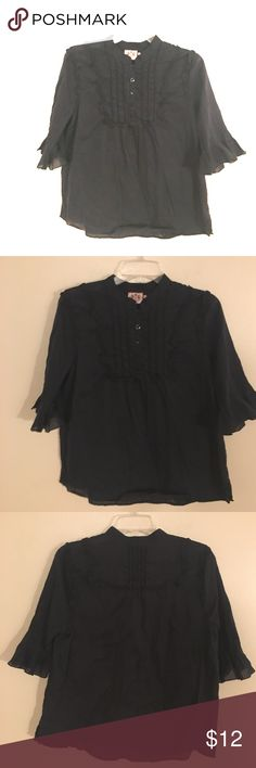 Juicy Couture Black Victorian Button up Blouse Authentic. Lite weight . Super cute on. 12. EUC. Juicy Couture Tops Blouses