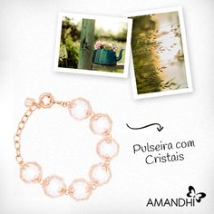 A pulseira com cristais acabou de chegar na Amandhí e é puro glamour! | Amandhí | www.amandhi.com |