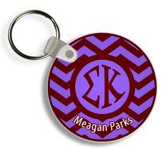 Sigma Kappa Chevron Keychains from GreekGear.com