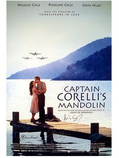 I don't know why I didn't watch this earlier, heck, this is a 2001 movie! It is a good movie, beautiful setting and heartbreaking story of love. Makes me fall even deeper in love with the beauty of Greece. Cinema Posters, Film Posters, Series Movies, Film Movie, Nicolas Cage Movies, Captain Corellis Mandolin, Shakespeare In Love, Beautiful Love Stories, Movies Worth Watching