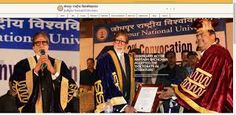 Mr. Amitabh Bachchan at Jodhpur National University  accepted the 'Doctorate in Literature'.