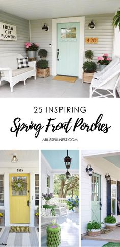 When you want your home to feel more welcoming, inviting and fresh, there's no better spot to spruce up than the entry. #ablissfulnest #springdecorideas #entrywaydecor #frontporchideas #springfrontporches #homedecorideas