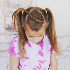 Inspired by @3_little_girls_hair_. A cute Dutch braid into pigtails. . . . . . #hairinspiration #hairstylesforgirls #hairstylesforlittlegirls #littlegirlhair #littlegirlhairideas #littlegirlhairstyles #braidstyles #braidsforgirls #braidsforlittlegirls #pigtails