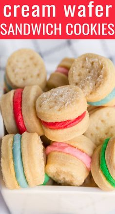 Easy No Bake Desserts, Easy Cookie Recipes, Köstliche Desserts, Best Dessert Recipes, Sweet Recipes, Delicious Desserts, Yummy Food, Wafer Cookies, Yummy Cookies
