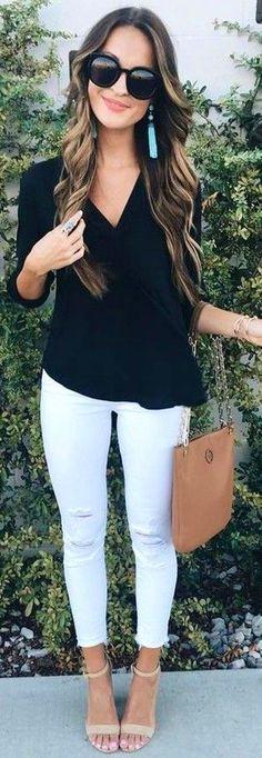 #summer #lovely #fashion   Black   White