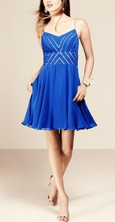 Royal Blue fit & flare