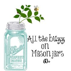 All things mason jars project round-up #masonjars #masonjarcrafts #masonjarcraftslove