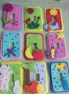 interruptores goma eva niños original idea decoracion