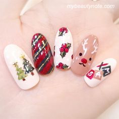 60 Totally Cute Easy Christmas Nail Designs for Short Nails – Page 59 – My Beauty Note Cute Christmas Nails, Christmas Mix, Xmas Nails, Christmas Nail Designs, Holiday Nails, Simple Christmas, Short Nail Designs, Nail Art Designs, Love Nails
