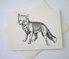 Fox Note Cards Stationery Set of 10 Cards by PetitePaperie on Etsy, $10.00