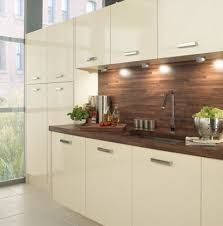 cream gloss kitchen walnut worktop - Google Search