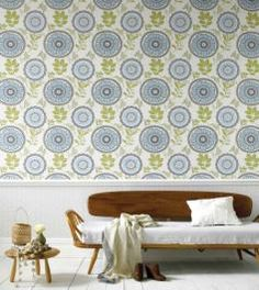 ideas-for-your-home: Amy Butler Lacework White,Light blue,Pale green Floral Wallpaper Images Wallpaper, Modern Wallpaper Designs, New Wallpaper, Designer Wallpaper, Kitchen Wallpaper, Beautiful Wallpaper, Hanging Wallpaper, Wallpaper Murals, Nursery Wallpaper
