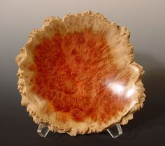 Australian Red Mallee Burl Wood Turned Wood Bowl, one of a kind