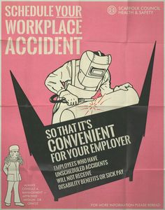 In the first half of the accidents in the workplace increased one-hundred fold, largely because work equipment and machinery were so hazardous Funny Quotes, Funny Memes, Jokes, Funny Signs, Workplace Accident, Technology Posters, Twisted Humor, Adult Humor, Pulp Fiction