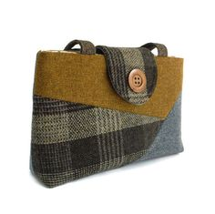Harris Tweed Purse - Patchwork Collezione / Color-Block - One of a Kind