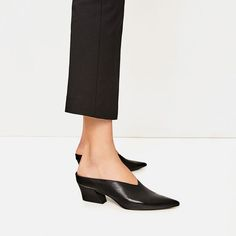 Image 6 of LEATHER MULES from Zara