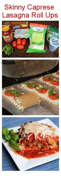 Skinny Caprese Lasagna Roll Ups! Nutritious simple affordable delicious and perfectly portioned if you are trying to lose weight!