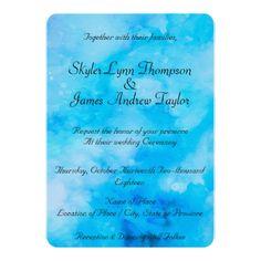 #Cloud 9 Watercolor Wedding Invitation - #thursday #thursdays
