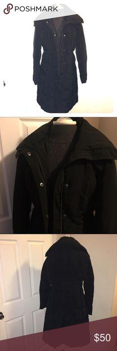 Women's Perry Ellis Portfolio long jacket Women's Perry Ellis Portfolio long jacket size medium. Great condition. Perry Ellis Jackets & Coats Puffers