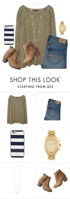 """""""january 2, 2016"""" by lydia-hh ❤ liked on Polyvore featuring MANGO, Abercrombie & Fitch, Kate Spade, Michael Kors, Kendra Scott and maurices"""