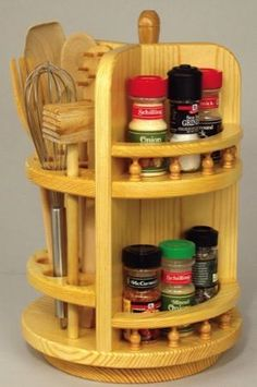 Best-Selling Woodworking Projects | 19-W3143 - Kitchen Countertop Tower Woodworking Plan