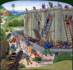 The siege of Brest 1386. Chronicle of Jean Froissart. Book III. Bibliothèque Nationale de France, BNF FR 2645, Fol. 116v