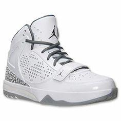 Men's Jordan Phase 23 Hoops Premium Basketball Shoes| FinishLine.com | White/Cool Grey/Black