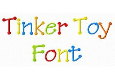 $2.95 Tinker Toy Machine Embroidery Font in 3 Sizes