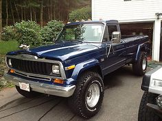 someday you will be mine! Jeep J20.  https://www.pinterest.com/dapoirier/4x4-and-trucks/