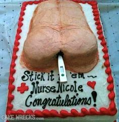 Cake Wrecks - Home - 8 Disgusting Medical Cakes Only A Nurse Could Love