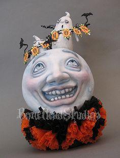 BooMoon by Bone*Head Studios Retro Halloween, Halloween Doll, Theme Halloween, Halloween Items, Halloween Projects, Holidays Halloween, Happy Halloween, Halloween Decorations, Halloween Gourds