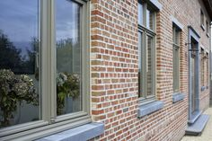 Exterior House Colors, Exterior Design, Interior And Exterior, Classic Window, Belgian Style, House Front Door, Exterior Remodel, Window Frames, New Home Designs