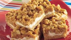 Recipe, grocery list, and nutrition info for Salted Peanut Chews. Easy Pillsbury cookie dough makes a luscious crust that holds a nutty, chewy filling. Just Desserts, Delicious Desserts, Yummy Food, Peanut Chews Recipe, Cookie Recipes, Dessert Recipes, Dessert Ideas, Bar Recipes, Candy Recipes