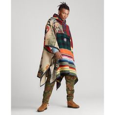 Mens Poncho, Hooded Poncho, Hooded Dress, Polo Sport Ralph Lauren, Poncho Lana, Camping Blanket, Creation Couture, Sweater Outfits, Poncho Outfit