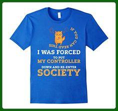 Mens Video Gamer Shirt Gamers Violent Lag Gaming Boy, Girls, Kids 2XL Royal Blue - Gamer shirts (*Amazon Partner-Link)