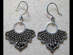 Earrings - Beaded around ring ~ Seed Bead Tutorials