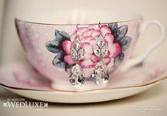 WedLuxe: sweet dangling earrings