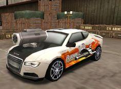 http://www.oyunzamani.org/audi-a7-silahli-araba.html Burnin Rubber 5. serisi olan bu oyunda diğer bildiğiniz burnin rubber serilerinin biraz daha geliştirilmiş halidir. Oyuna ilk girişte garajınızda beyaz, kırmızı, sarı ve mavi renklerde kullanımınıza ait 4 adet Audi A7 araba sizi bekliyor.