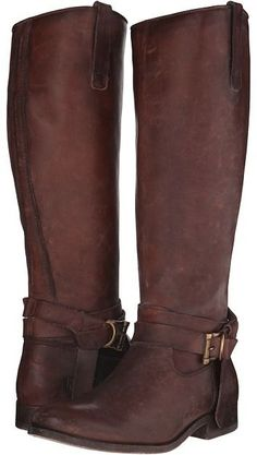 Giddyup. Tall brown boots. Frye - Melissa Knotted Tall Cowboy Boots