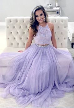 Gorgeous Two Piece Lavender Tulle A-Line Long Prom Dress,Long Prom Dress,Party Dresses, Evening Dresses ,Formal Dresses Lavender Prom Dresses, Tulle Prom Dress, Prom Party Dresses, Homecoming Dresses, Dress Party, Wedding Dresses, Formal Dress Shops, Formal Evening Dresses, Perfect Prom Dress