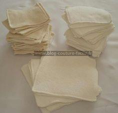 lingettes lavables - conseil tissus + tuto