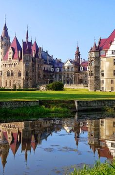 Moszna Castle, Poland The Moszna Castle, before 1945 German: Schloss Moschen) is a historic castle and residence located in a small village of Moszna in Poland. The castle is one of the best known monuments in the western part of Upper Silesia. The history of this building begins in the 17th century, although much older cellars were found in the gardens during excavations carried out at the beginning of the 20th century