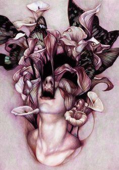 & Ldquo; Euphoria & quot;  2012, crayons de couleur sur papier, 65x45 cm