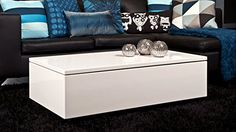Coffee table high gloss in white - 25 current ideas for the modern interior White Gloss Coffee Table, Coffee Table With Storage, Neat And Tidy, Home Decor Accessories, Cheap Home Decor, Event Decor, Modern Interior, Living Room Furniture, Design