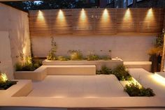 If you are considering lighting your garden/landscape, do remember firstly that a little light goes a long way at night. See our top garden lighting tips and ideas below to help you light beautifully and use the right exterior light . Courtyard Gardens Design, Lighting Design, Exterior Design, Terrace Garden Design, Outdoor Lighting, Garden Lighting Design, Outdoor Walls, Exterior Lighting, Garden Lanterns