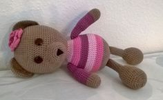"Amigurumibear , crochetbear , ""Borka"" Amigurumi Toys, Bears, Clay, Crochet, Clays, Ganchillo, Crocheting, Knits, Chrochet"